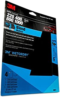 3M 03021 Wetordry 9 x 11 Sandpaper Sheet with Assorted Grit Sizes