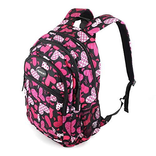 Kids Backpack for School, Fun Vibrant Colors - School & Travel Backpack + Heart Pattern