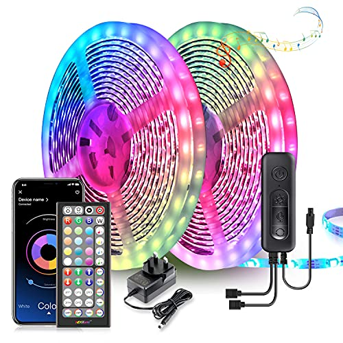 LED Strip Lights 20M Ultra-Long LED Lights Strip Music Sync, App Control with Remote, LED RGB LED Lights for Bedroom, DIY Color Options LED Tape Lights for Bedroom Ceiling Under The Cabinet