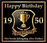 RAHMENLOS 3 St. Aufkleber zum 70. Geburtstag: 1950 der Beste