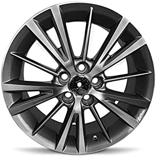 Road Ready Car Wheel For 2014-2019 Toyota Corolla 16 Inch 5 Lug Aluminum Rim Fits R16 Tire - Exact OEM Replacement - Full-Size Spare