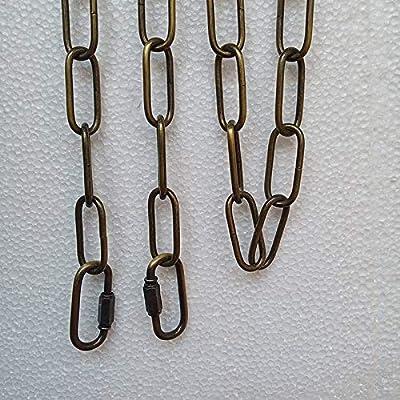 WOERFU 6 Feet Antique Bronze Finish Pendant chandelier Light Fixture Hanging Lighting Chain (Antique Bronze)