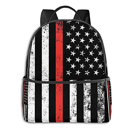 Mochila de viaje con bandera patriótica de los Estados Unidos para la escuela, mochila para portátil, mochila de viaje para hombres y adultos