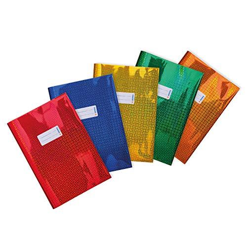 HERMA 20231 - Copertina per quaderni, formato DIN A4, con etichetta, in pellicola di polipropilene olografica resistente e facile da pulire, copertina per quaderni scolastici