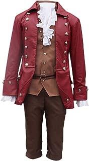 COSBOOM Halloween Men's Beauty and The Beast Gaston Performance Uniform Cosplay Costume