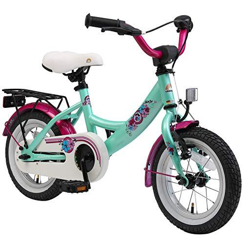 BIKESTAR Kinderfahrrad für Mädchen ab 3-4 Jahre | 12 Zoll Kinderrad Classic | Fahrrad für Kinder Mint | Risikofrei Testen