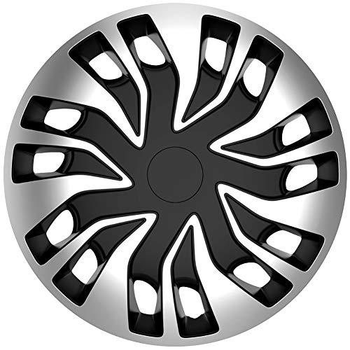 Jeu d'enjoliveurs Fast-VAN 16-inch argent/noir (sphère)