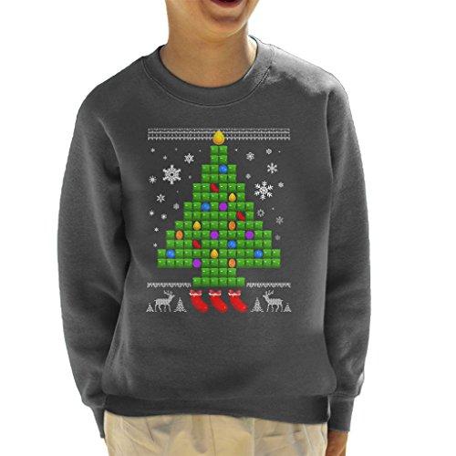 Cloud City 7 Candy Crush Chriatmas Tree Kid's Sweatshirt