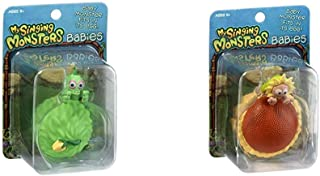 My Singing Monsters Baby Furcorn Collectible Figure with Egg Bundle Baby Flowah Collectible Figure with Egg, Brown/a