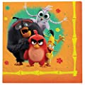 """Angry Birds"" Orange Luncheon Party Napkins, 6.5"" x 6.5"", 16 Ct."