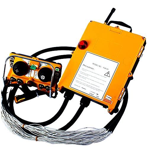 F24-60 1 Receptor + 1 Transmisor 220V 380V 36V 24 V Control remoto inalámbrico inalámbrico Controlador de control eléctrico Interruptores de control remoto,AC 220V,VHF 310-331Mhz