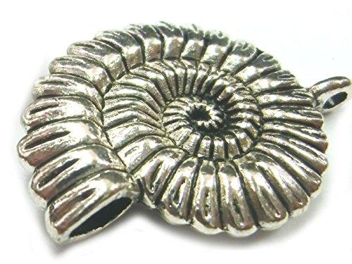 Nautilus Schnecke Ketten Anhänger vintage Tibetsilber