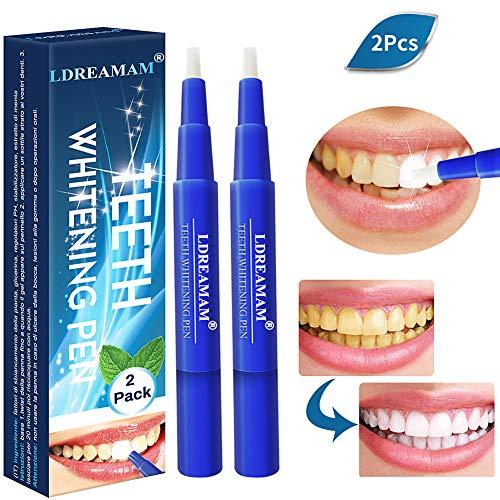 Zahnaufhellung Stift, heller Aufhellungsstift,Weiße Zähne Bleaching Stift, Zähne Bleichen & Natürlich Aufhellen, Aufhellungsbehandlungen, effektiv, Flecken entfernen 2PC