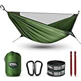 ETROL Upgraded 2 in 1 Ridge Hammock with Mosquito Net - Lightweight Portable