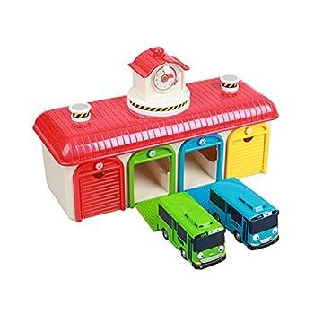 New The Little Bus Tayo Friends Toy car  Tayo Rogi Garage Set