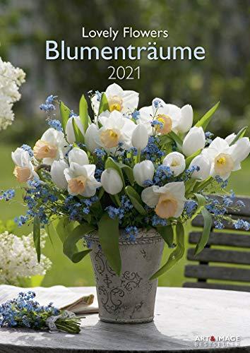 Blumenträume 2021 - Wand-Kalender A&I - 29,7x42: Lovely Flowers