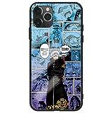 ワンピース ONE-PIECE iPhone12 mini IPHONE 12 12mini ケース スマートフォン 強化ガラスケース 鏡面ガラス ハードケース 携帯電話ケース 携帯カバー スマホケース アイフォン スマホカバー カバー (01)