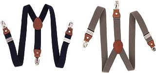 HOMYL 2xSuspenders Children Kids Adjustable Elastic Clip On Unisex Braces Boy Girl