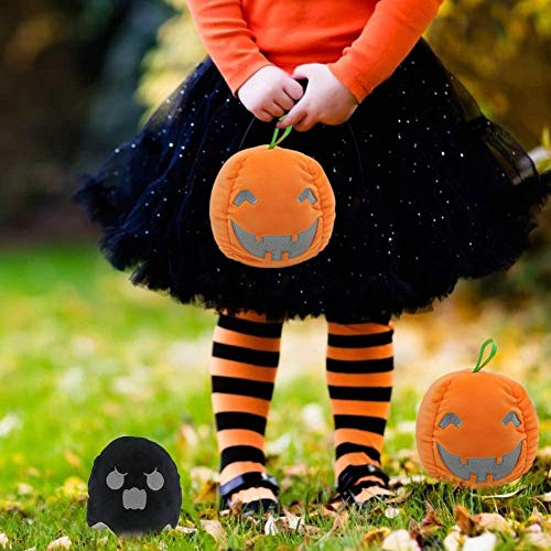Halloween Flip Luminous Ghost Doll, Double-Sided Reversible Expressions Plushie Doll Halloween Plush Gifts for Kids…
