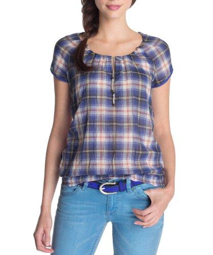 ESPRIT Damen Bluse 063EE1F002, Gr. 38 (M), Blau (495 stanyan Street Blue)