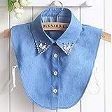 Camisa de cowboy coreana de Acmco Denim Jeans Big Stones par