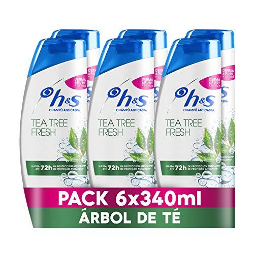 H&S Tea Tree Fresh Champú Anticaspa 6 x 340ml
