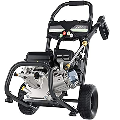 TEANDE 4200PSI 2.8GPM Gas Pressure Washer, 7.0HP 212CC Power Washer, 5 Adjustable Nozzles,1Gallon Flue Tank