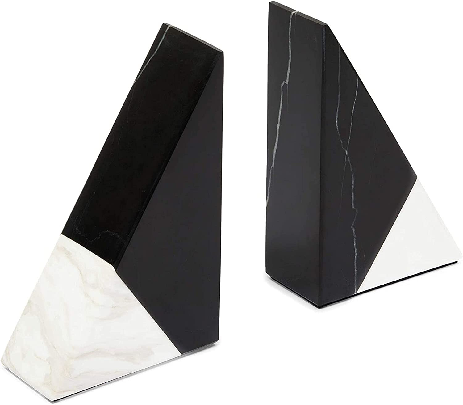 Black Marble Fashion Decorative Bookends for Shelves in 2 3.9 Super popular specialty store x 6.3