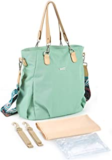 One-Shoulder Crossbody Waterproof Nylon Mummy Bag, Large Capacity Mother and Baby Bag, Pregnant Woman Bag, Multifunctional...