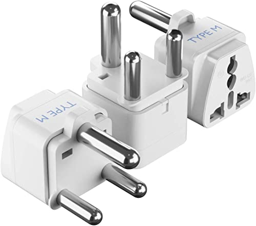 Ceptics AUS to South Africa Universal Travel Plug Adapter (Type M) - Charge your Cell Phones, Laptops, Tablets - Grou...