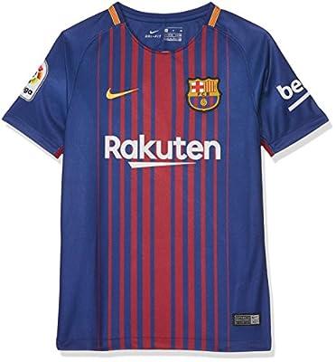 Nike 2017/18 Kids FC Barcelona Stadium Jersey with Sponsor [DEEP Royal Blue] (M)