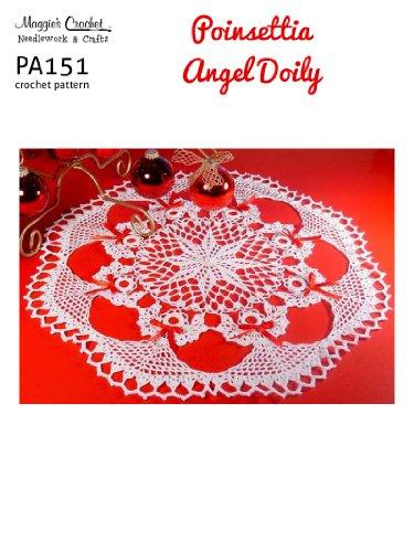 Crochet Pattern Poinsettia Angel Doily PA151-R