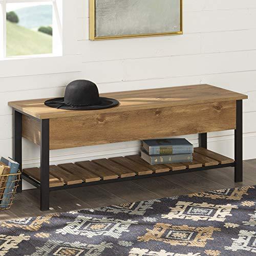 WE Furniture Open-Top Storage Bench, Barnwood