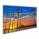 Bild Bilder auf Leinwand Santa Monica Kalifornien