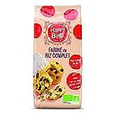 Happy Bio Farine de Riz Complet Bio 500 g