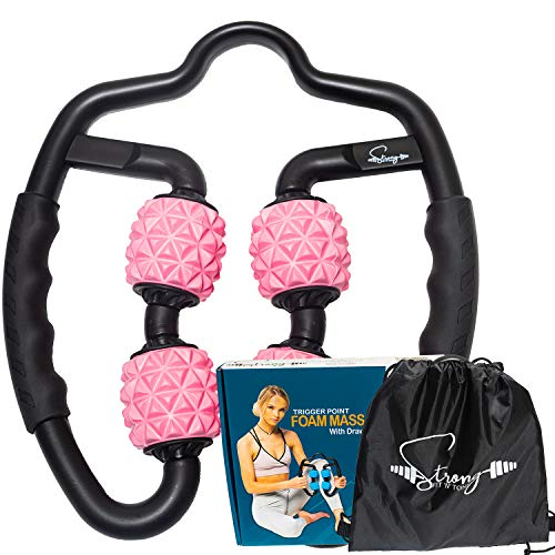 Foam Roller Deep Tissue Massager   Fascia Blaster Myofascial Massage Tools with Drawstring Gym Bag   Muscle Roller for Legs   Fit Roller Pro, High Density Foam Trigger Point Leg Circulation Massager