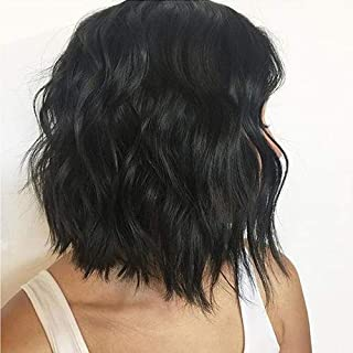 Flowerseason Hair Natural Wave Lace Front Wig Brazilian Human Hair Wavy Wigs Pre Plucked 13x6 Deep Parting Front Lace wigs Natural Color 150% Density