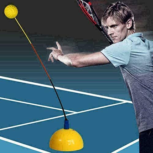 Tennis Mountain Practice Trainer,Tennis Trainer Swing Practice,Stereotipo Swing Ball Machine Principianti Auto-Study Accessorio.