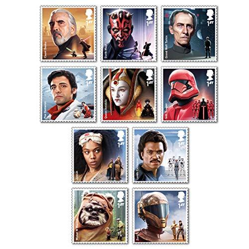Royal Mail Star Wars 2019 | 10 Briefmarken | postfrisch | Großbritannien | Count Dooku | Darth Maul | Prinzessin Amidala