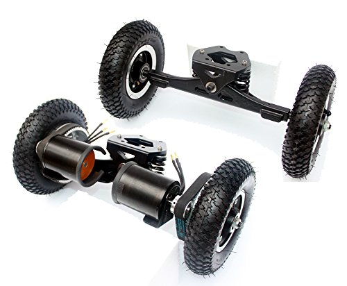L-faster Electric Skateboard Truck Off Road Skateboard Belt Drive Truck 4 Wheel Longboard Mountains Skateboard 11 Inch Truck 8 Inch Wheel (Normal with Drive Truck)