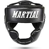Martial Kopfschutz mit hoher Schlagdämpfung! Gesichtsschutz mit Perfekter Sicht und geringer Schweißentwicklung. Boxhelm für Kampfsport, MMA, Boxen, Kickboxen & Sparring inkl Beutel!