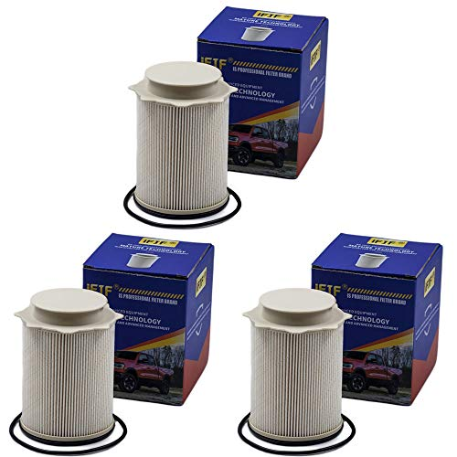 iFJF Fuel Filter 68157291AA Replacement for Ram 2011-2017 2500 3500 4500 5500 6.7L Turbo Diesel Engines Precision Element Removes Microscopic Allow Enough Fluid or Air Flow(Set of 3)