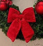 EDG ENZO DE GASPERI Fiocco Imbottito Shabby Chic Velluto 27 x 27 cm Colore Rosso