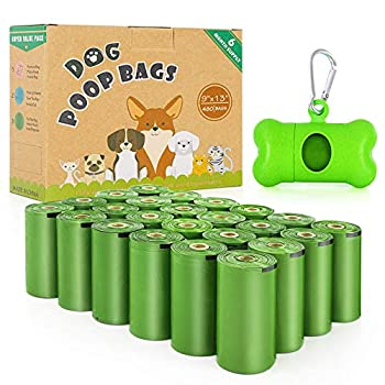 Zevmi Dog Poop Bag 480 Counts  Biodegradable Poop Bags for Dogs Extra Thick and Leak-Proof Eco-Friendly Biodegradable Scented Dog Poop Bags Refill Rolls with Dispenser