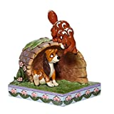 Jim Shore Disney Traditions Fox and The Hound on Log Figurine 6008077
