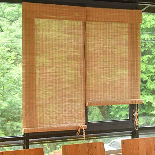Natuurlijke bamboe Oprolgordijn Romeinse schaduw Zonnescherm Lichtfilterende rolgordijnen voor woonkamer Eetkamer/slaapkamer en meer