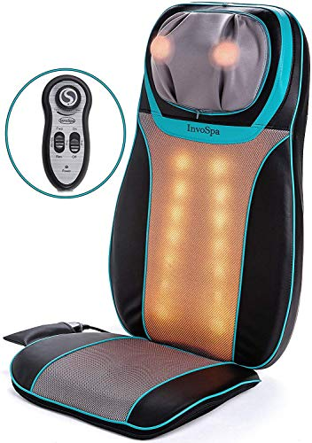 Shiatsu Neck and Back Massager Chair with Heat - Massage Seat Cushion with Rolling, Kneading &...