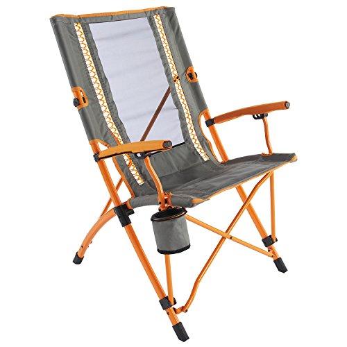 Coleman Faltstuhl Bungee Chair mit Stahlgestell Zum Relaxen, Campingstuhl mit Armlehnen und Getränkehalter, Transporttasche, bis Max. 136 kg