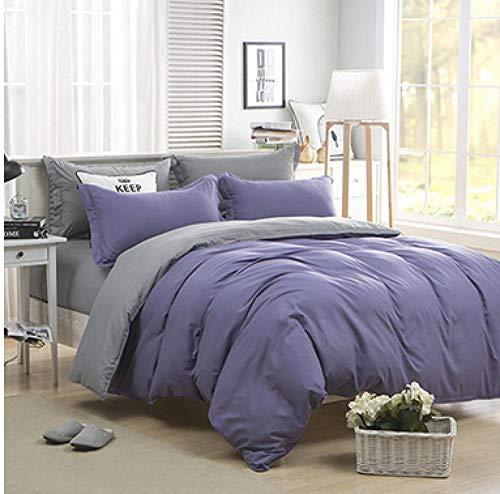 Niedliche apfelgrüne Home-Bett-Kits Bettwäsche Einfarbige Single Twin Full Queen und Double King Soft Feeling-06_180cm Bett 4pc
