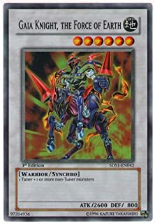 YuGiOh 5D's Starter Deck Gaia Knight, the Force of the Earth 5DS1-EN042 Rare ...